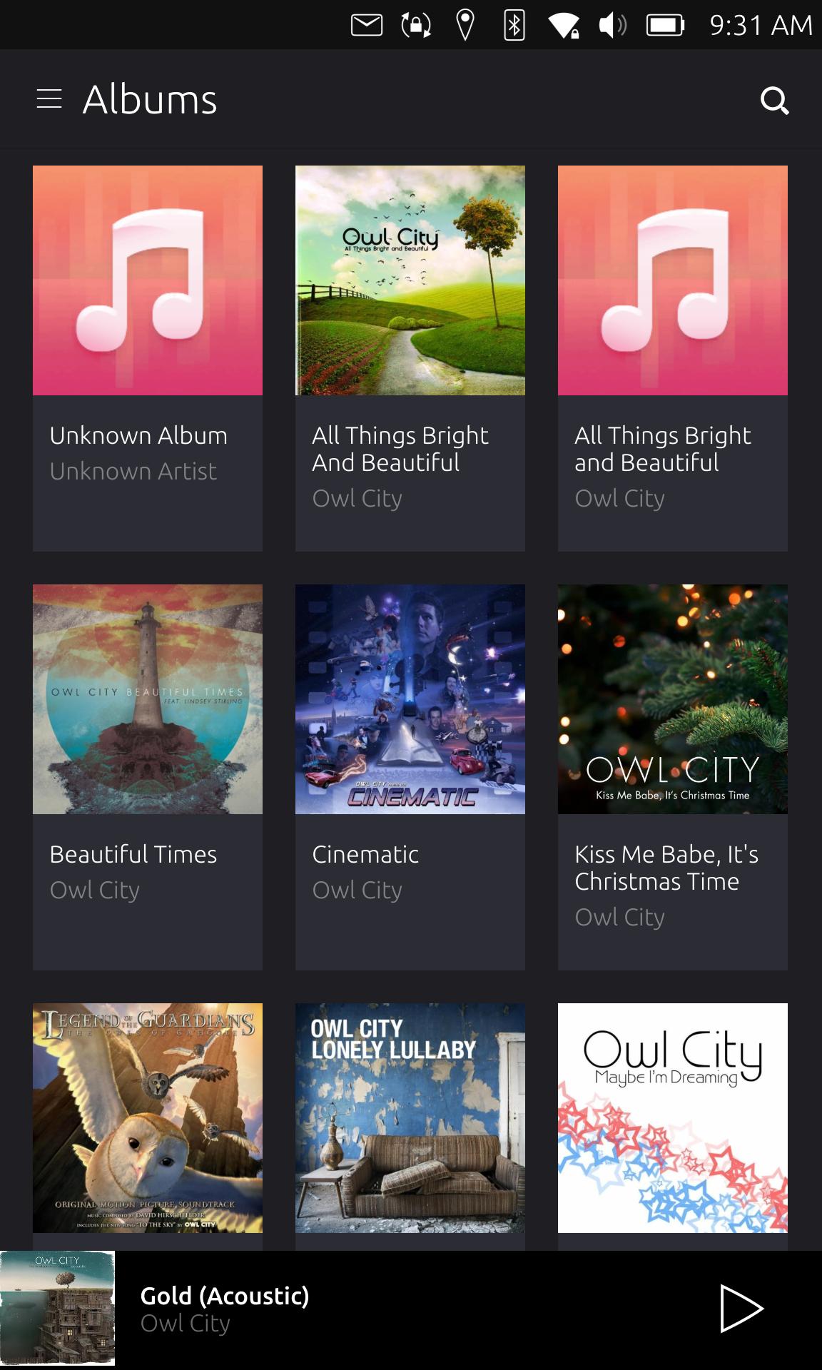 uApp Explorer - com ubuntu music